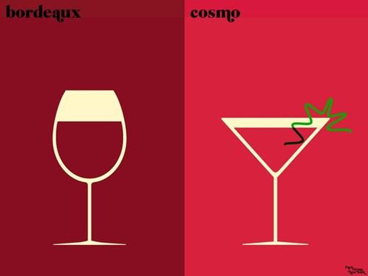 Bordeaux-i bor vagy Cosmo koktél?