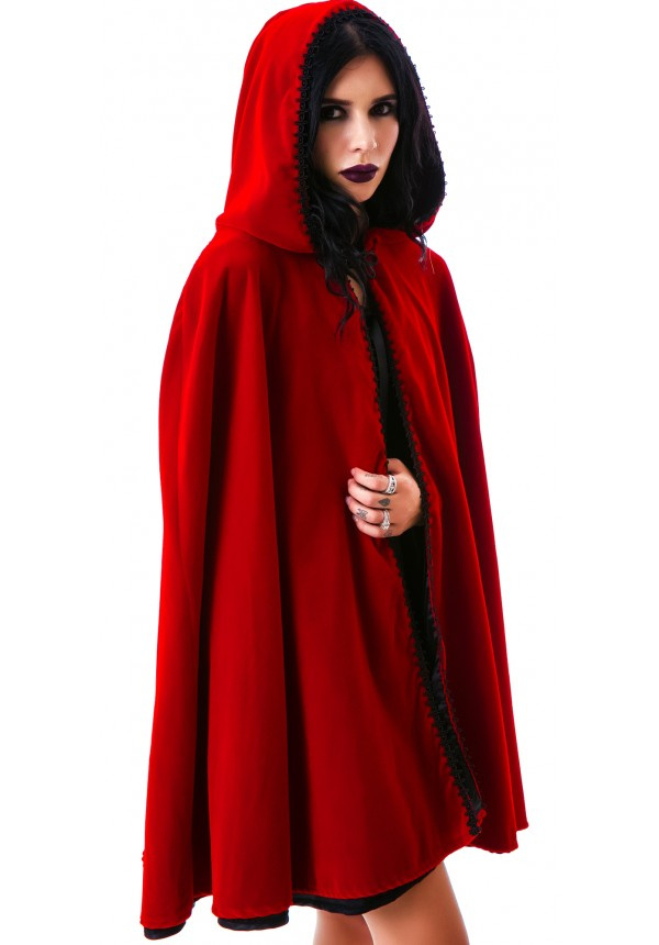jeannie nitro short velvet hooded cape 2