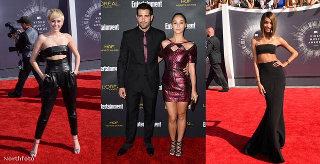 Miley Cyrus tőle szokatlanul felöltözött, Cara Santana Abodi ruhában pózol, Jourdan Dunn modellen pedig még a csíktop is jól áll.