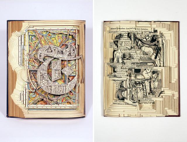 Könyvsebésznek hívja magát a New York-i székhelyű művész,  Brian Dettmer.