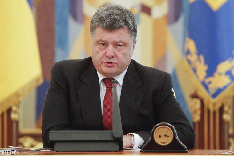 Porosenko orosz behatolásról beszélt