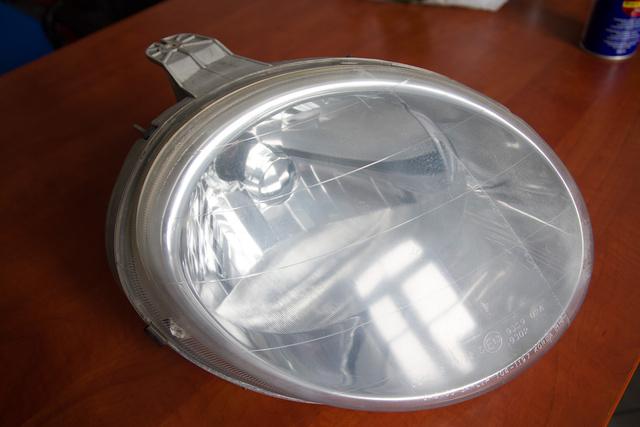 A régi, polírtesztre használt Matiz-fényszórók tökéletesen megfeleltek e célra.