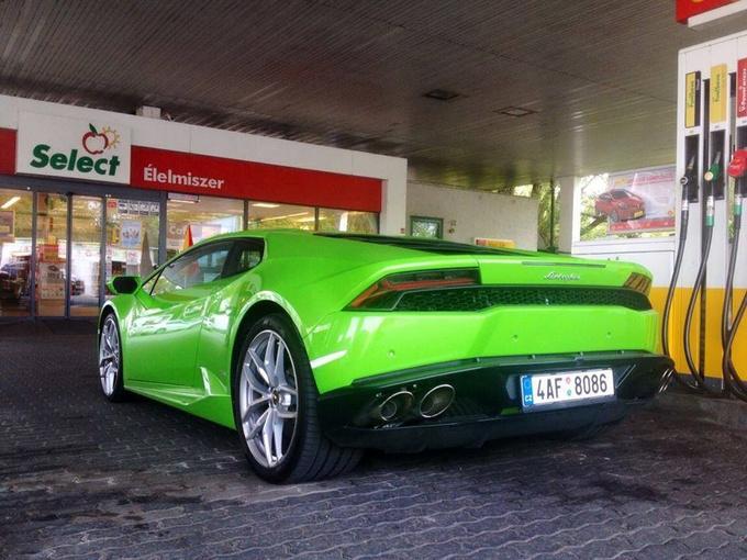 At a Hungarian petrol station