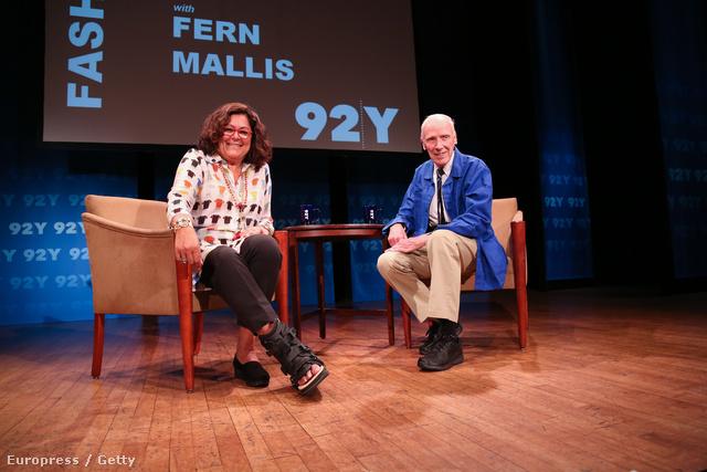 Bill Cunningham és Fern Mallis a 92Y stúdiójában.