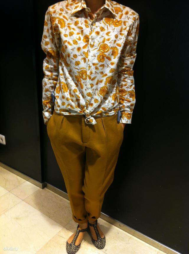 Zara: Így sem rossz, bár ennek a nadrágnak már borsosabb az ára, ugyanis 19995 forintba kerül.