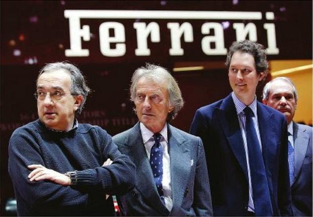 Marchionne, Montezemolo és John Elkann, az Agnelli-örökös.