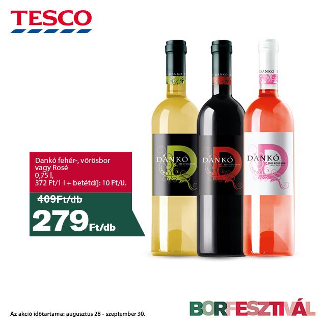 Dankó fehér-, vörösbor vagy rosé