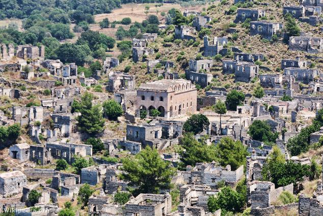 Kayaköy, az elhagyatott falu
