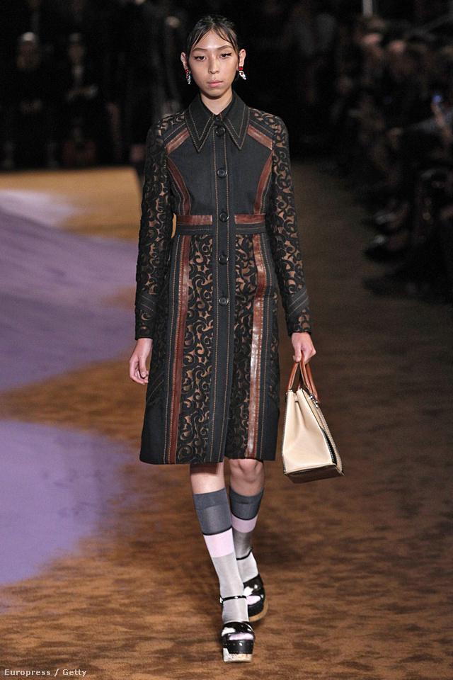 A legjobb kabátokat továbbra is a Prada teszi kifutóra Milánóban.