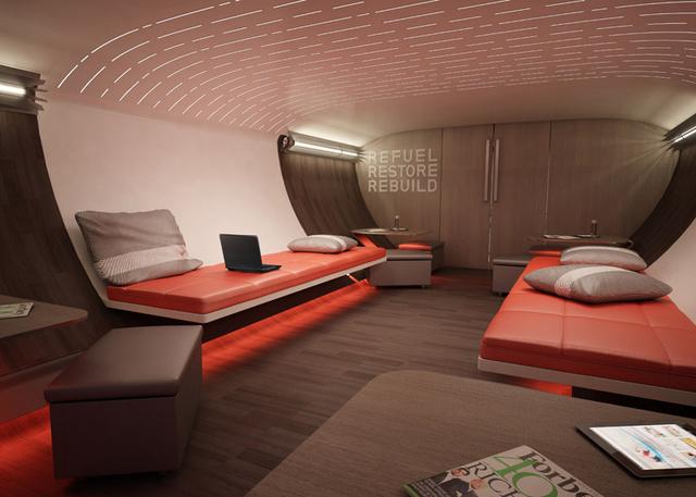 A tervek szerint helyet kapna a luxusgépen egy alvásra kijelölt hely, egy társalgó, egy étkező, valamint egy vizsgálóként és relaxációs szobaként is működő rész is.