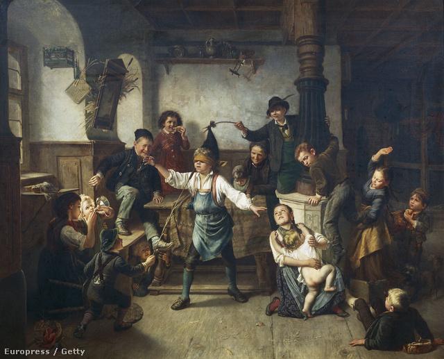 A szembekötősdi már a 18. században is közkedvelt játék volt