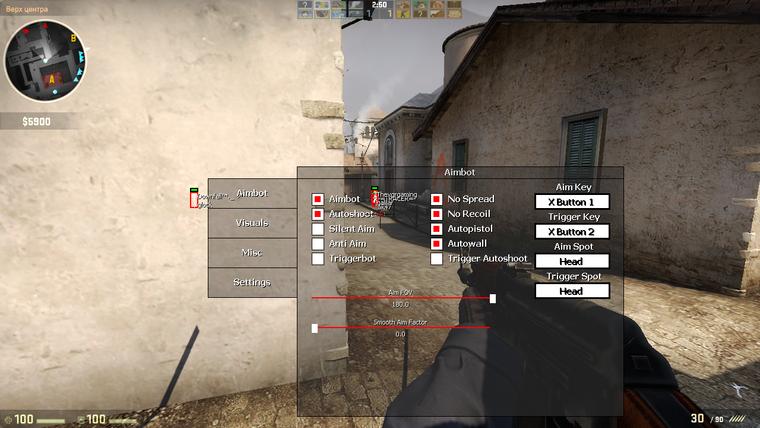"""Aimbot csaló """"plugin"""" a Counter-Strike Global Offensive játékban"""