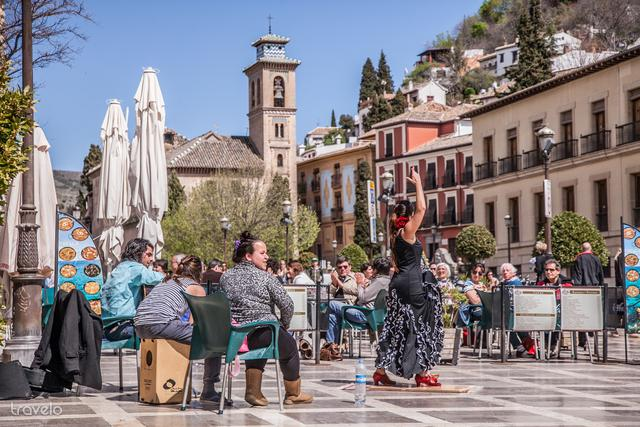 Flamenco táncos az utcán