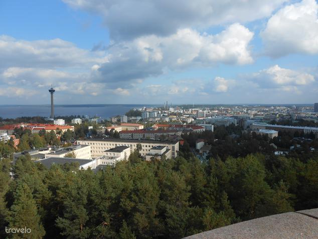 Tampere a közeli kilátóból