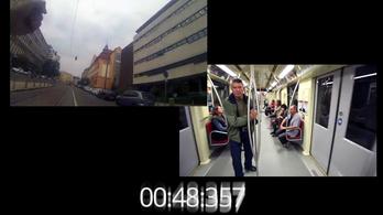 Itt a bizonyíték: így futottuk le a metrót