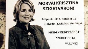 Morvai Krisztina KDNP-s színekben kampányol