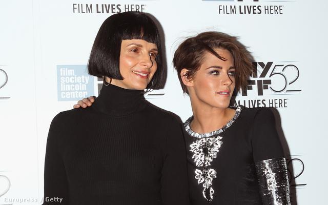 Juliette Binoche és Kristen Stewart a Clouds of Maria Sils című film premierjén a New York-i Filmfesztiválon