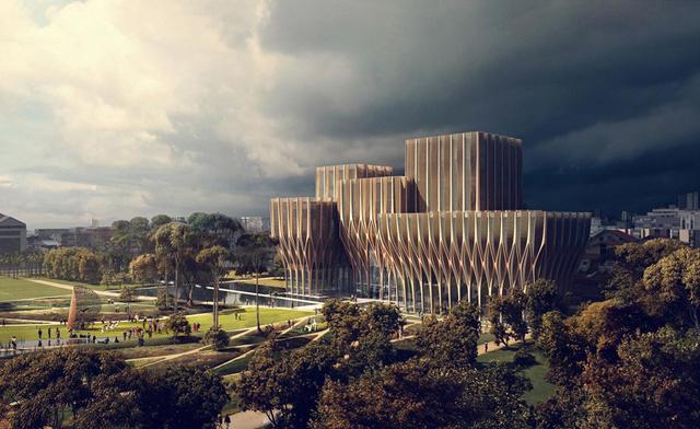 A napokban napvilágot látott a Pritzker-díjas építész első fa tartószerkezetes projektje.