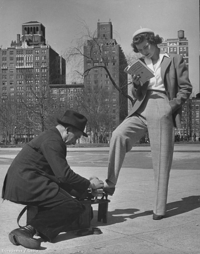 New Yorkban már 40-50 évvel ezelőtt is sikkes volt pasi ruhákban járni.