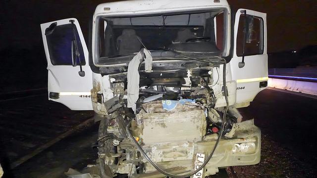 M0 teherautó baleset 3