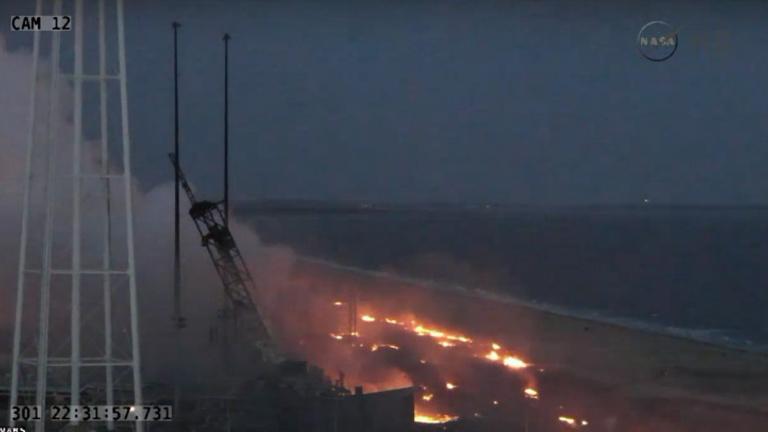 Kilövés után felrobbant egy amerikai teherűrhajó