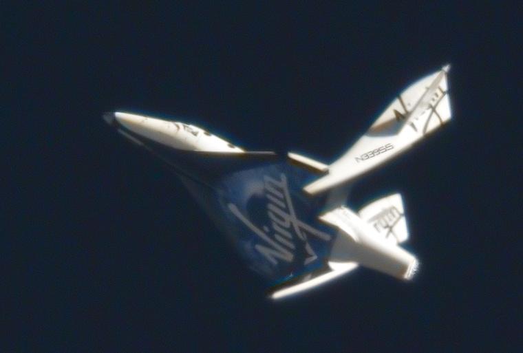 A SpaceShipTwo fékező rendszere működés közben