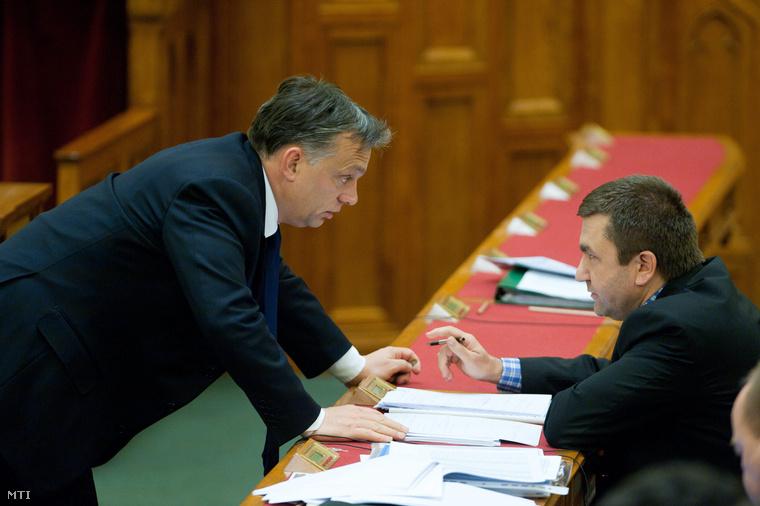 Orbán Viktor és Czomba Sándor