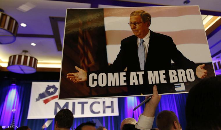 Mitch McConnell-támogatók a választások éjszakáján, Louisville-ben, 2014. november 5-én.