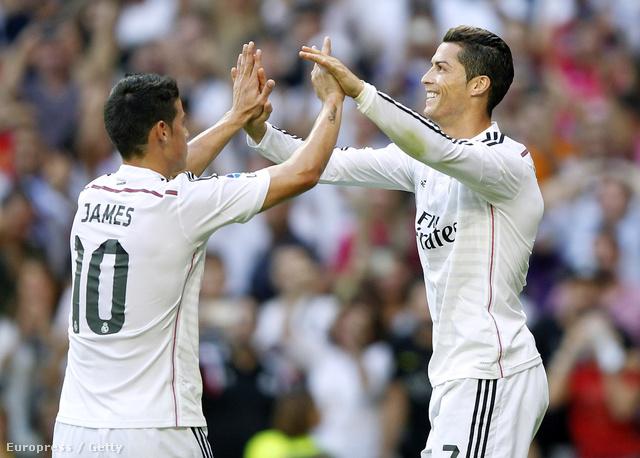 James Rodríguez és Cristiano Ronaldo nagyon egymásra talált
