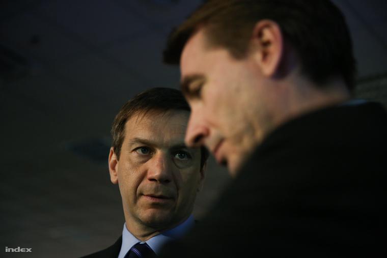 Bajnai Gordon és Jávor Benedek 2014 áprilisában