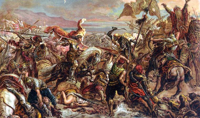 Matejko János olajfestménye a várnai csatáról a Magyar Nemzeti Múzeum képtárában.