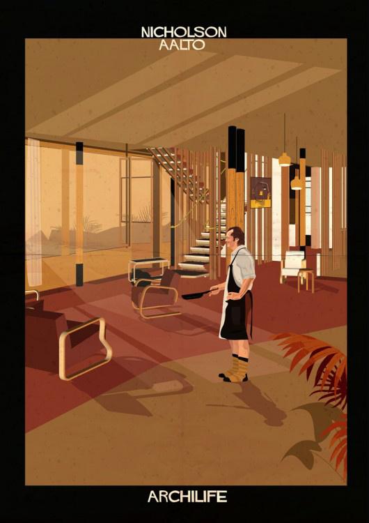 Melynél Hollywood legnagyobb neveit helyezte modernista stílusban épült házakba és olyan hétköznapi szituációkba, mint például egy ing kivasalása vagy egy villanykörte kicserélése.