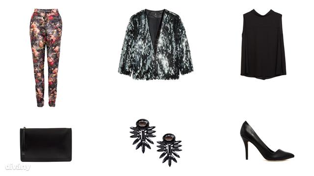 Kabát - 12990 Ft (H&M), blúz - 9995 Ft (Zara), nadrág - 11900 Ft (F&F), fülbevaló - 11,37 (Oasis/Asos), táska - 6495 Ft (Parfois), cipő - 85,31 euró (Aldo/Asos)