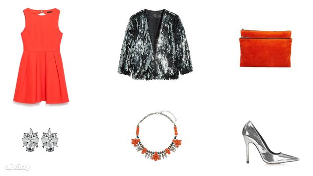 Kabát - 12990 Ft (H&M), ruha - 14995 Ft (Zara), fülbevaló - 3,99 font (New Look), nyaklánc - 8 font (Topshop), táska - 49.76 euró (Asos), cipő - 58 font (Topshop)