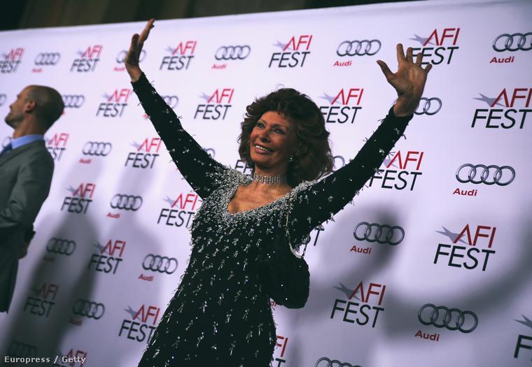 Sophia Loren két héttel ezelőtt, 80 évesen