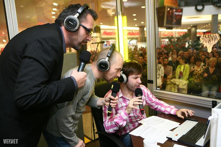 Rákóczi Feri, Vadon Jáni és Sebestyén Balázs, a Morning Show műsorvezetői