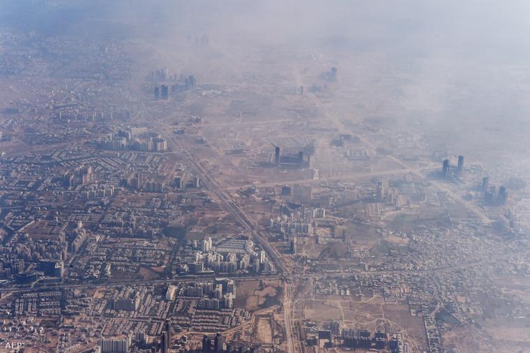 Szmog Új-Delhi felett