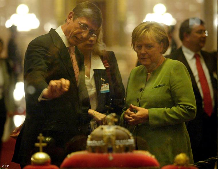 Angela Merkel 2007-ben Gyurcsány Ferenccel találkozott Budapesten