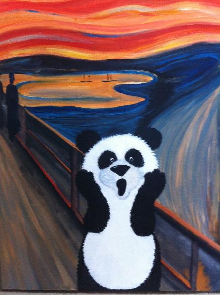 Az ertedeti kép: Edvard Munch - Sikoly