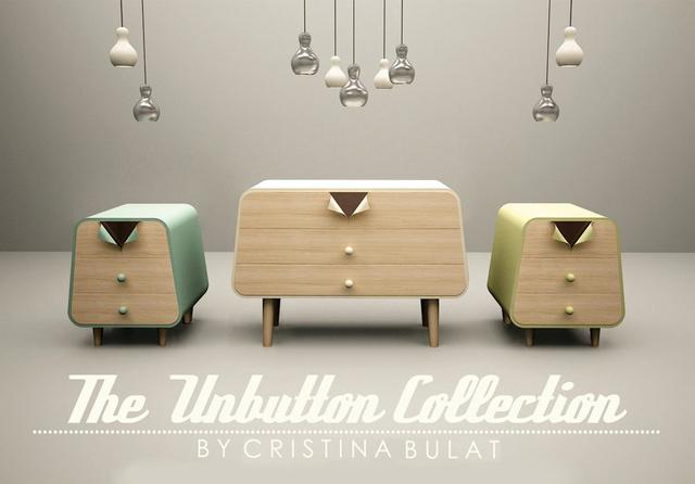 """A romániai származású dizájner, Cristina Bulat az év második felében tarolt legújabb,  """"Unbutton Collection"""" néven futó bútor kollekciójával."""