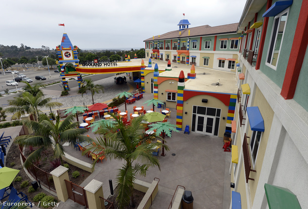 Képünk a Kaliforniában található Legoland Hotelről készült