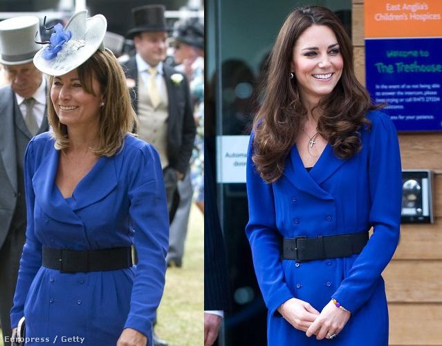 2010-ben az ascoti derbin viselte a kék Reiss ruhát Carole Middleton, melyben lánya 2012-ben a  The Tree House gyerekjóléti alapítványt látogatta meg.