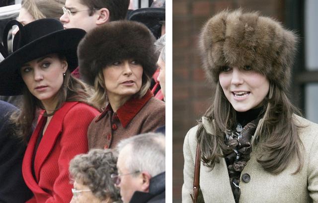 2006-ban először Carole Middleton ment szőrkucsmában lóversenyre, majd lánya.