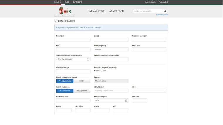 vasarloi regisztracio