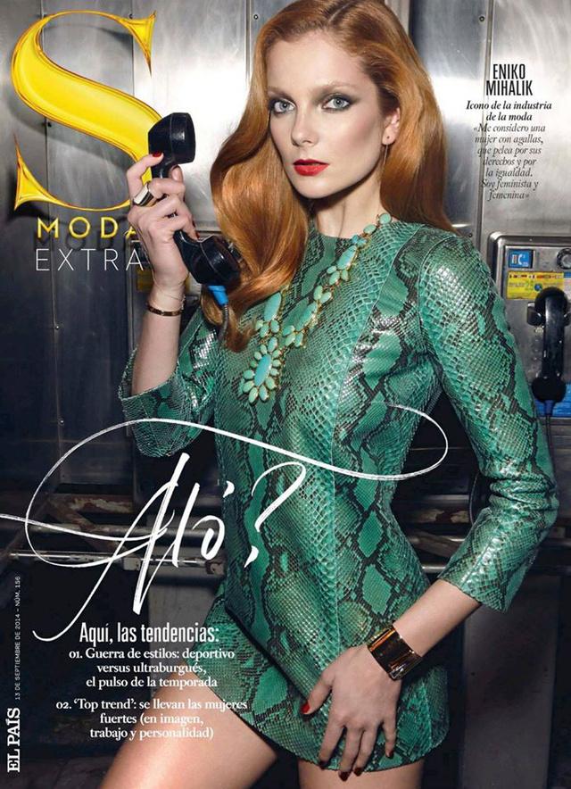 """Hazánk egyik legkelendőbb exportcikkét szeptemberben választotta a spanyol S Moda magazin címlaplányának, valamint készített vele egy fotósorozatot is """"Ultra Bourgeois"""" címmel, melyet Henrigue Gendre lőtt a lapnak."""
