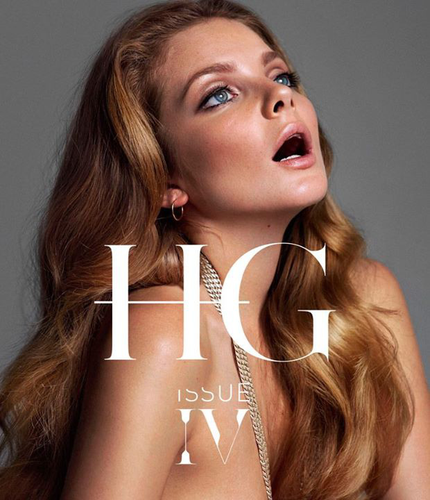 A bomba formában lévő modell egy vastagabb lánccal a nyakában, egyszál semmiben került fel a HG Issue augusztusi borítójára.