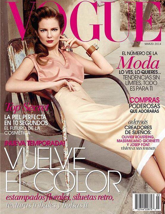 A mexikói Vogue címlaplányaként                         A latinamerikai lap előszeretettel  teszi borítójára a magyar modellt, 2011-ben például az egyik legmeghatározóbb, szeptemberi kiadás címlaplánya volt. 2014 márciusában egy hozzá talán a legjobban passzoló vintage frizurával és púder árnyalatú szerelésben pózolt  Yu Tsai fotósnak.