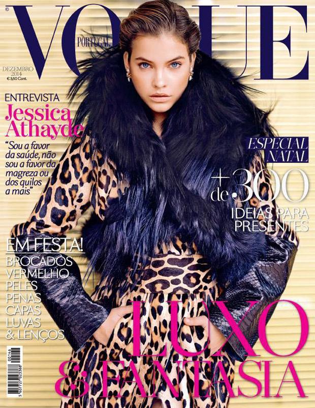 Leopárd mintás kabátban pózol élete első Vogue címlapján.