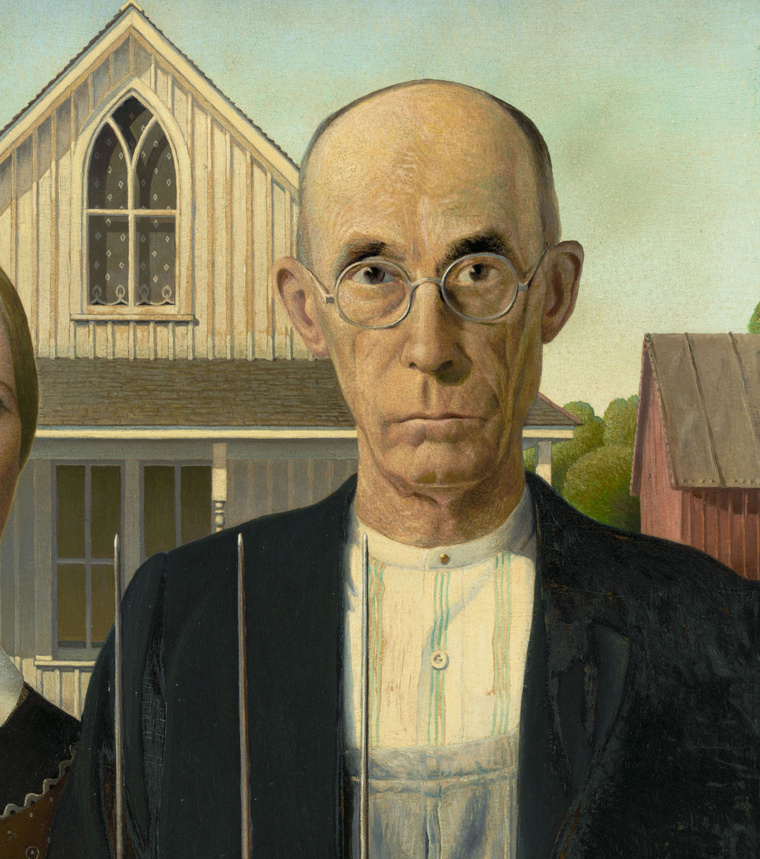 Grant Wood - American Gothic - Google Art Project C