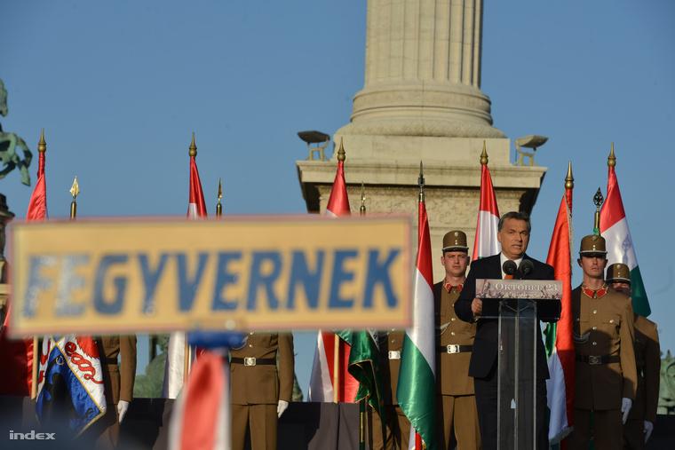 Orbán Viktor október 23-i beszéde a Hősök terén